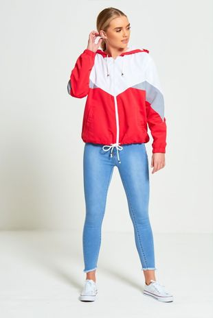 Light Wash Denim Frayed Hem Skinny Jeans