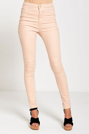 Pink High Waisted Skinny Jeans