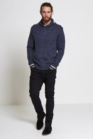 V Neck Polo Knitted Jumper