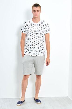 White Barber Printed T-shirt