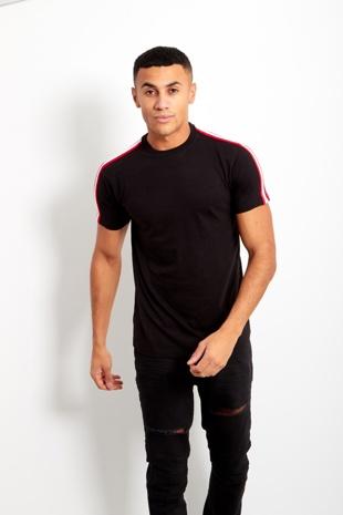 Mens Black Stripe T-Shirt