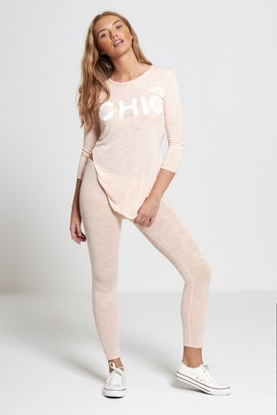 Peach Chic Athleisure Loungewear Leggings