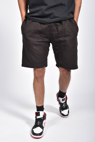 Mens Black Basic Jogger Shorts