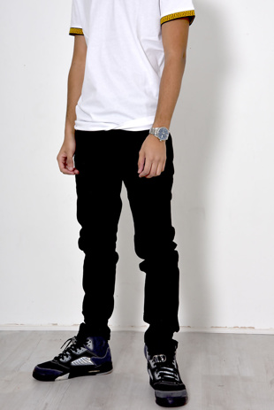 Mens Black Basic Jean