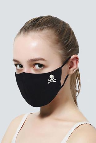 Black Skull Re-Usable Anti Dust Hygiene Face Mask