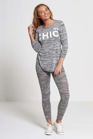 Charcoal Chic Athleisure Loungewear Jogger Set