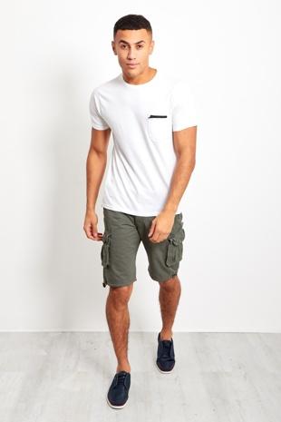 Charcoal Mens Cargo Shorts