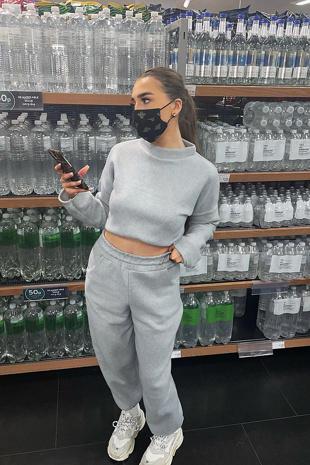 Grey Super Soft Fleece Loungewear Set