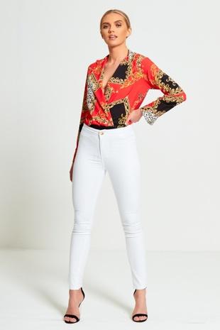 White Disco Skinny Jean