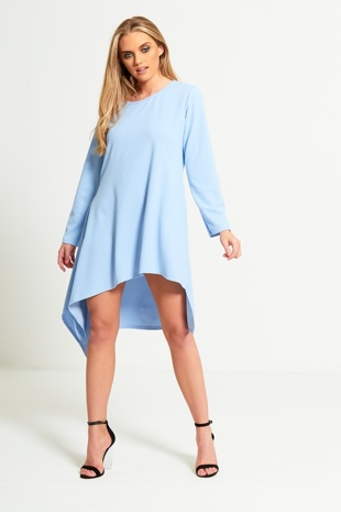 Baby Blue Asymmetrical Dress