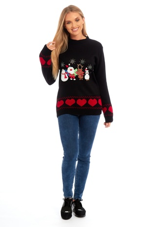 Black Christmas Jumper Party Design