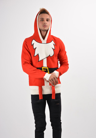 Mens Red Santa Suit Christmas Jumper