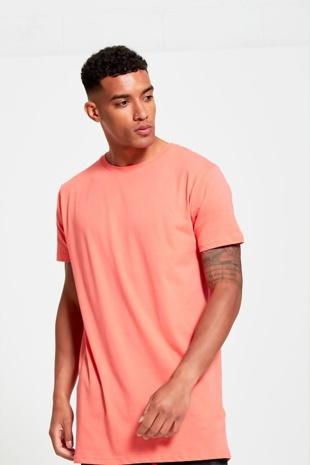 Mens Coral Longline Urban T-Shirt