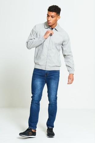 Mens Grey Light Weight Jacket