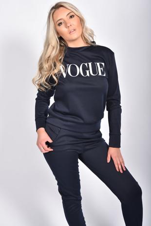 Navy Vogue Loungewear Set