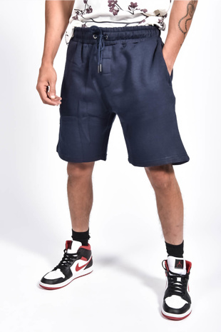 Mens Navy Basic Jogger Shorts