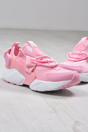 Pink Lace Up Front Chunky Sole Trainers