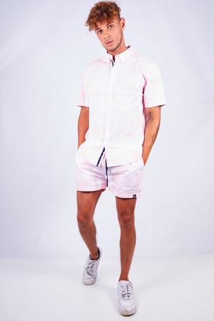 Pink Tie Dye Print Shirt And Shorts Set