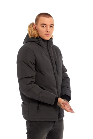 Mens Grey WindBreaker Polar Parka