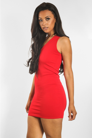 Red Bodycon Mini Dress