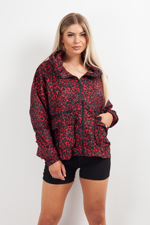 Red Leopard Print Festival Jacket