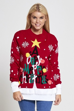 Red Very Merry Christmas Jumper