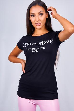Black Ye Saint Love Slogan T-Shirt