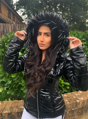 Black With Black Faux Fur Hood Puffer Jacket