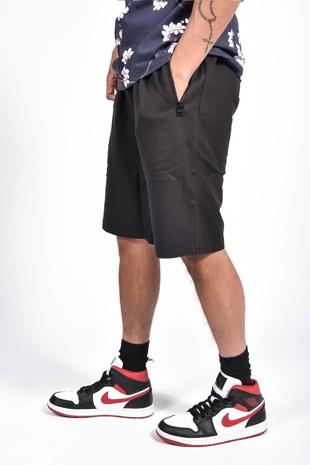 Mens Black Zip Pocket Jersey Shorts