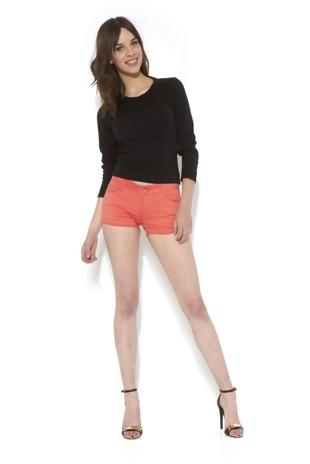 Basic Plain Coral Shorts