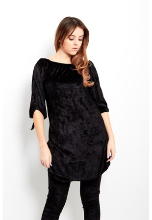Black Crushed Velvet Loungewear