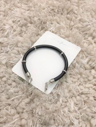 Black Gothic Diamante Bangle Bracelet