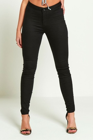 Black High Rise Super Skinny Jeans