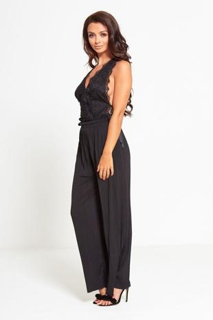 Black Pleated Trouser