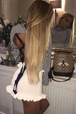 Black Striped Ribbon Top