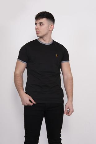 Black Contrast Short Sleeve T-Shirt