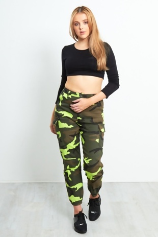 Camo Pocket Detail Trousers