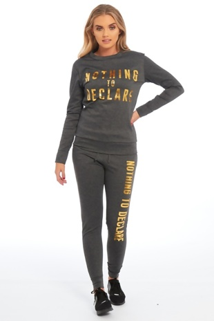 Charcoal Nothing To Declare Customized Loungewear
