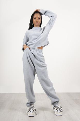 Grey Supper Soft Fleece Loungewear Set