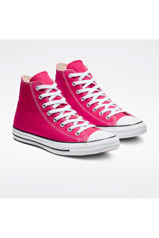 Fuchsia High Top Canvas Trainers