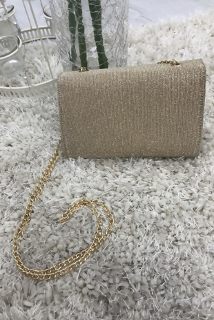 Gold Glitter Cross Body Bag