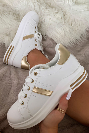 Gold Stripe Chunky Trainers
