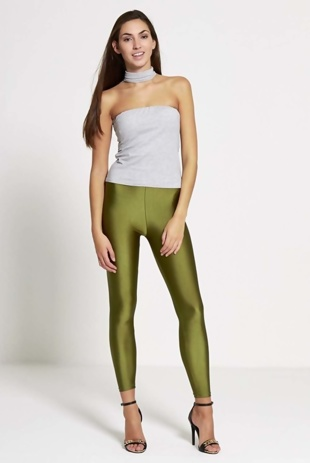 Green Shiny Disco Leggings