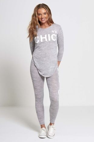 Grey Chic Athleisure Loungewear Jogger Set