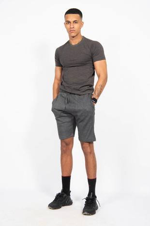 Charcaol Zip Pocket Shorts