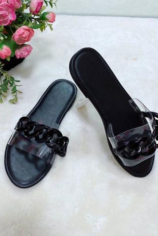 Black Chain Sliders