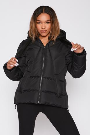 Black Puffer Hooded Coat - Pre Order