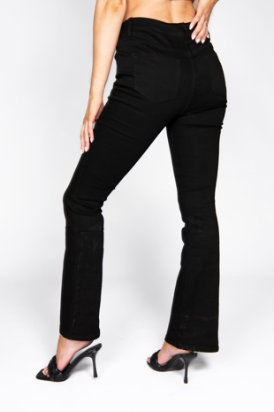 Black Skinny Fit Flared Jeans