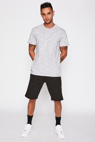 Grey Tee with Navy Detail