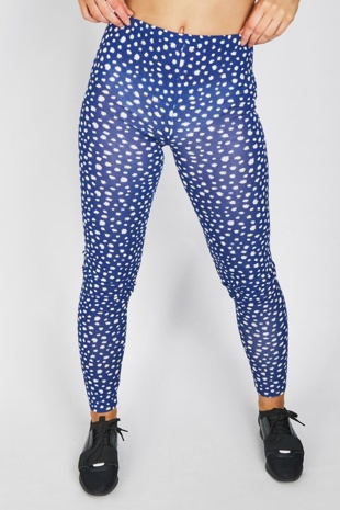 Royal Blue Spot Print Legging